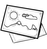 Landscape pictures — Stock Vector