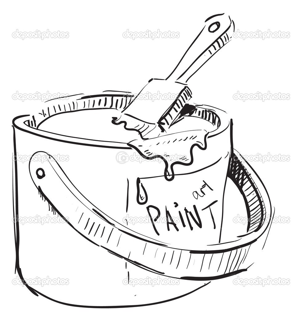 paint bucket coloring page coloring pages
