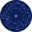 Zodiac sky - Stock Vector