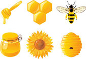 Honey icons — Stock Vector