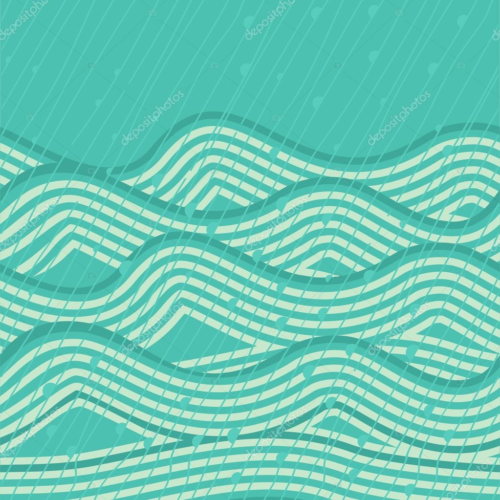Wave seamless background  Stock Vector #8186778