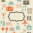 Royalty-Free Stock Vector Image: Retro locations and places icons with blank banner