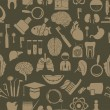 Medical icons seamless pattern — Stok Vektör #8627007