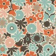 Seamless floral doodle pattern — Stock Vector