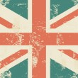 Grungy uk flag - Stock Vector