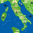Royalty-Free Stock Vector Image: Cartoon map of italy