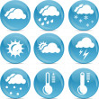 Weather icons — Stock Vector #8636295