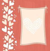 Banner op naadloze liefde achtergrond — Stockvector
