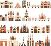Buildings seamless — Stock Vector