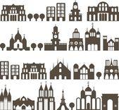Edificios sin costuras — Vector de stock