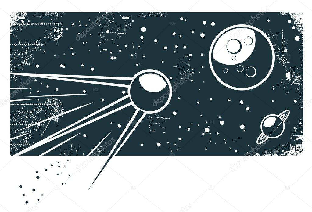 Retro space — Stock Vector #8636289