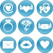 Valentine love icons — Stockfoto #9172598