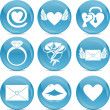 Valentine love icons — 图库照片