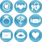 ícones de amor dia dos namorados — Foto Stock