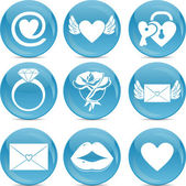 Valentine love icons — Stock Photo