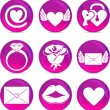 Valentine love pictogrammen — Stockvector  #9822581