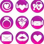 ícones de amor dia dos namorados — Vetorial Stock