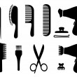 Hair style icons — Stock Vector