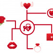 Vector de stock : Valentine love icons