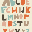 Funky retro alphabet in vector — Stok Vektör #9822608