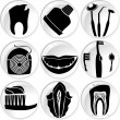 Stock Vector: Teeth dental icons