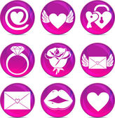 Valentine love icons — Stock Vector