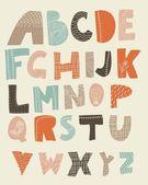 Alfabeto inglese — Vettoriale Stock