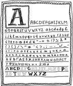 英語のアルファベット — ストックベクタ
