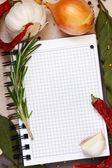 Caderno culinário. — Foto Stock