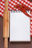 Culinary notebook. — Stock Photo