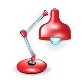 Rode bureaublad lamp — Stockvector