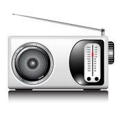 Radio retro biały — Wektor stockowy