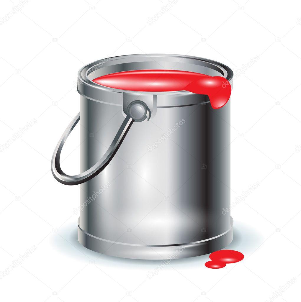 Tek k rm z boya al minyum kova stok vekt r corneliap 8068631 - Ouvrir pot de peinture ...