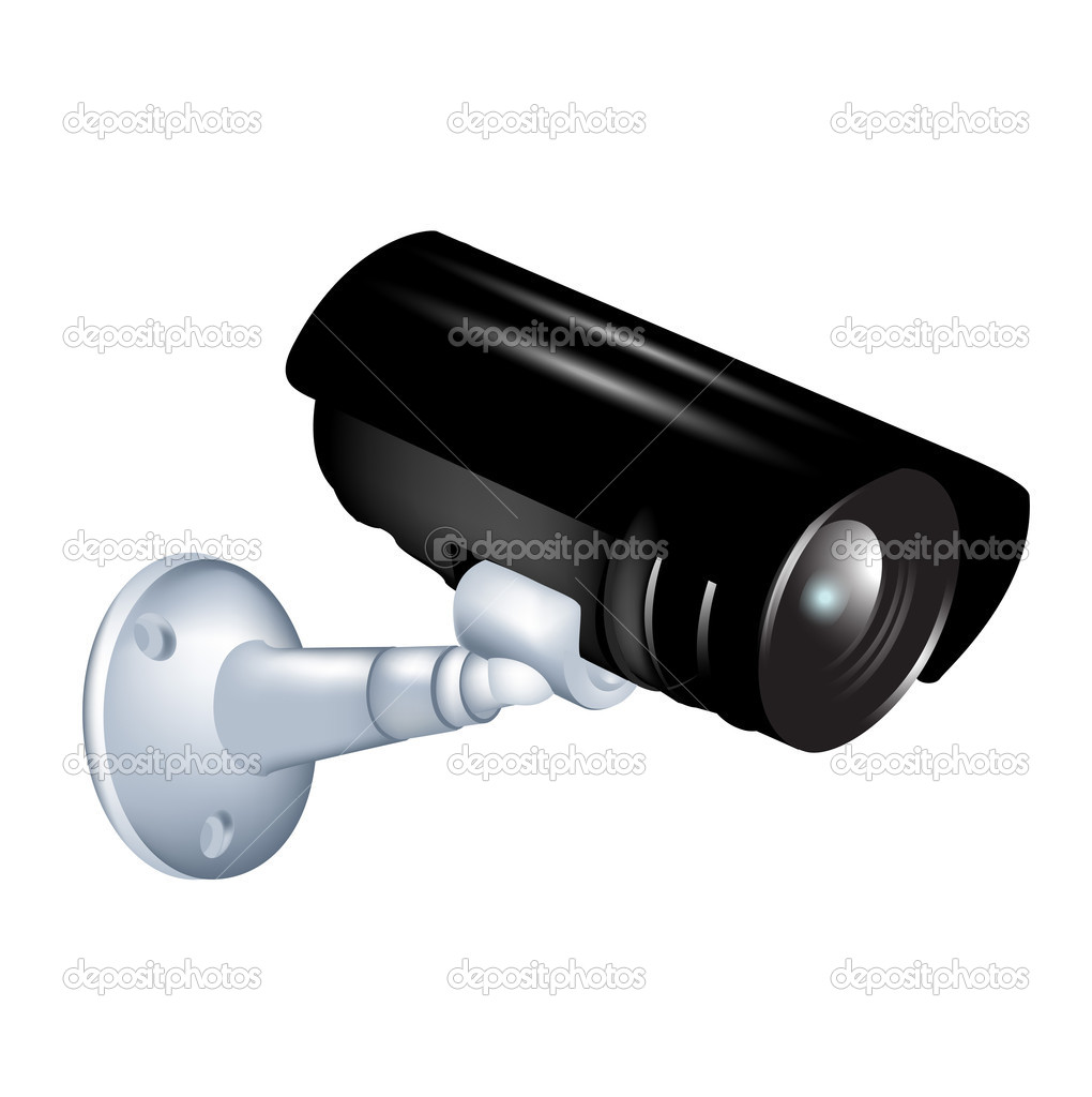 C mera de vigil ncia vetor de stock corneliap 8068644 - Camera de vigilancia ...