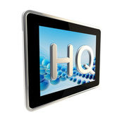 HQ high quality glossy icon as a pad screen — Stock Photo