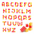 Alphabet set made of toy blocks isolated — Stock Photo #10049800