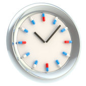 Clock with medical pills as numbers — Stock Photo