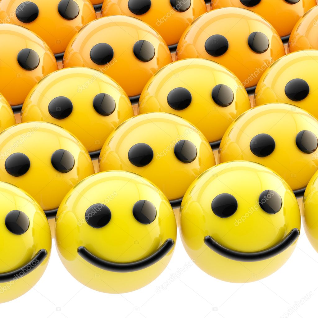Background made of shiny sphere smiley faces — Stock Photo #10049811