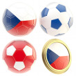 Czech republic football team attributes isolated — Stock Photo #10050862