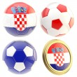 Stock Photo: Croatifootball team attributes isolated