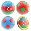 Azerbaijan football team attributes isolated — Stock Photo