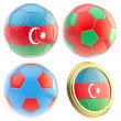 Stock Photo: Azerbaijfootball team attributes isolated