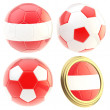 Stock Photo: Austrifootball team attributes isolated