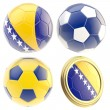 Stock Photo: Bosniand Herzegovinfootball team attributes