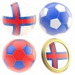 Royalty-Free Stock Photo: Faroe Islands football team attributes isolated