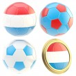 Stock Photo: Luxembourg football team attributes isolated