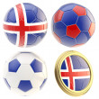 Iceland football team attributes isolated — Stock Photo