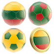 Stock Photo: Lithuanifootball team attributes isolated