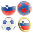 Stock Photo: Slovenifootball team attributes isolated