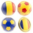 Romania football team attributes isolated - Stock Photo